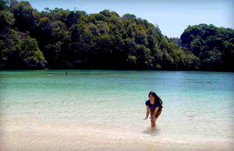 pulau sempu yang indah