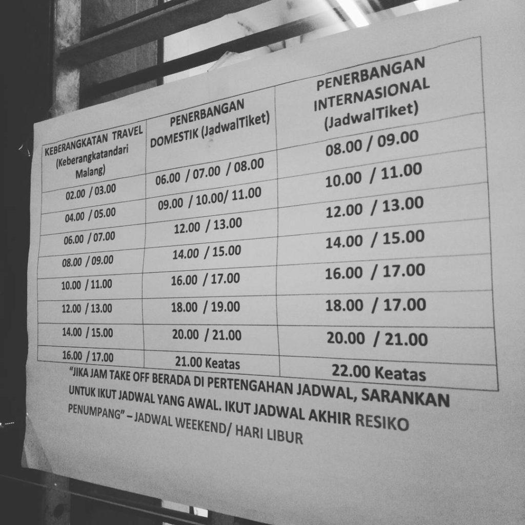 jadwal travel malang surabaya dan juanda